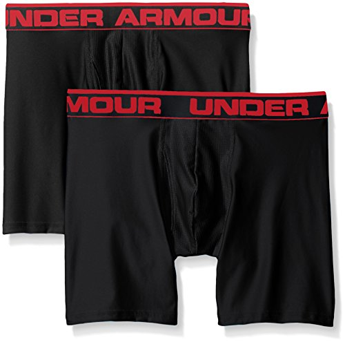 "Under Armour Men's Original Series 6"" Boxerjock, Black/Black, Medium, Pack of 2"