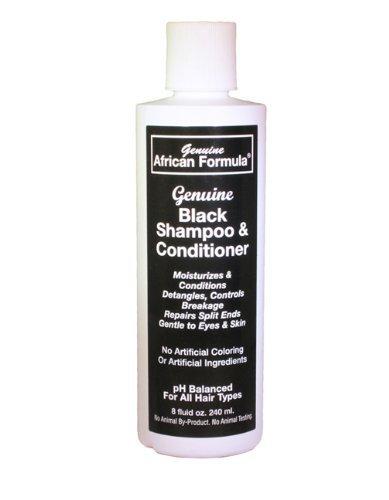 Genuine Black Conditioning Shampoo 8oz (Genuine African Formula Super Grow Hair Gel)