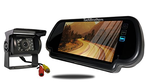 Tadibrothers 7 Inch Mirror with 120 Degree RV Backup - Backup Mirror Tadibrothers Camera