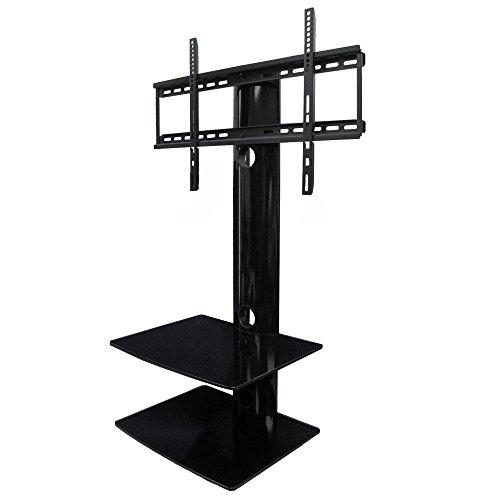 Swiveling TV Wall Mount with Two Shelves (Shelf)