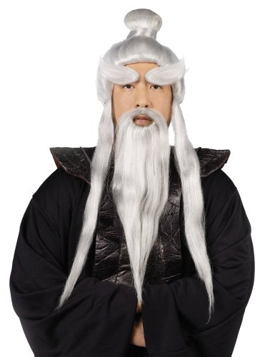 Kill Bill Wig (InCharacter Sensei Wig, Beard & Brows Set Costume Accessory)