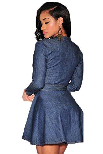 Ohyeah - Robe - Patineuse - Femme Bleu Bleu