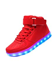 RIY LED Light Up Shoes Fashion Sneaker for Men Women Slip-on with 11 Color Modes