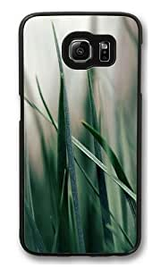 Green grass PC Case Cover for Samsung S6 and Samsung Galaxy S6 Black