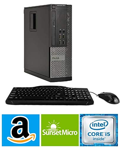 2016 Dell Optiplex 7010 Business Desktop Computer (Intel Quad Core i5 up to 3.8GHz Processor), 8GB RAM, 500GB HDD, DVD, Windows 10 Professional (Renewed)
