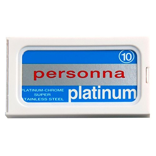 100 Personna Platinum Double Edge Razor Blades IP BLUE - Made from Swedish Steel