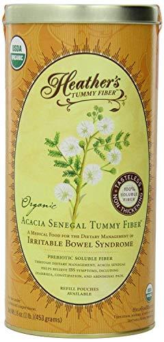 Heather's Tummy Fiber CAN Organic Acacia Senegal (16 oz) for IBS (Limited Edition)