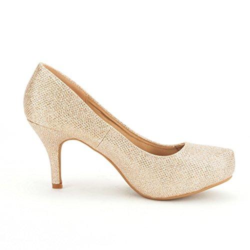 Elegant gold Versatile PAIRS Classic New Shoes Low Tiffanny Tiffany Pumps Platform Stiletto Women's Dress DREAM Heel pYZUXwgnqU