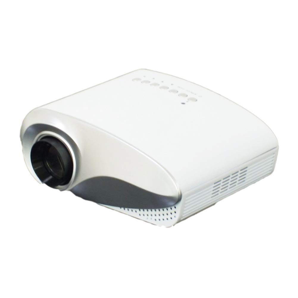 HD LED Micro Projector Mini Home Home Theater Projector Mobile Phone Projector-White by HBOY