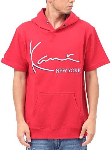 [カールカナイ] Karl Kani パーカー プルオーバー 3D カラー 刺繍 半袖 プルパーカー 192K1305