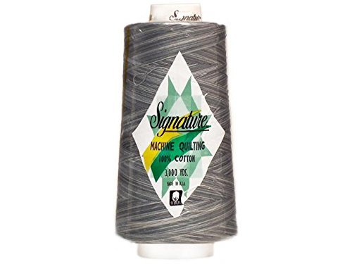 Signature 3 Ply Cotton Quilting Thread, 40wt/3000 yd, Variegated Smokey Blues