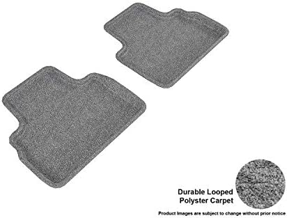 Black 3D MAXpider Second Row Custom Fit Floor Mat for Select Honda Accord Models Classic Carpet