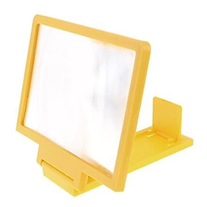 eDealMax a16010500ux2722 marco de plástico Teléfono móvil de la pantalla plegable Lupa base de color amarillo