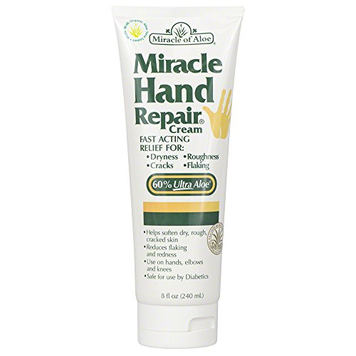 Scented After Sun Lotion (Miracle of Aloe, Miracle Hand Repair Cream with 60% UltraAloe 8 ounce tube)