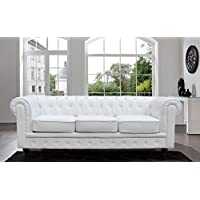 tufted scroll arm black white bonded leather sofa white sofa - White Leather Sofa