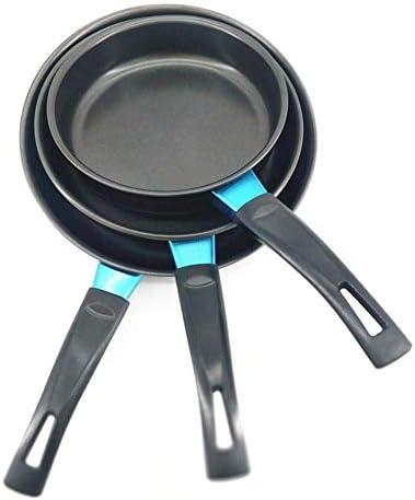 NBVCX Ustensiles de Cuisine Poêle antiadhésive 1pc 16cm Mini Poêle à Fond Plat Non Collante Poêle à crêpe antiadhésive pour œufs de ménage Poignée Anti-brûlure