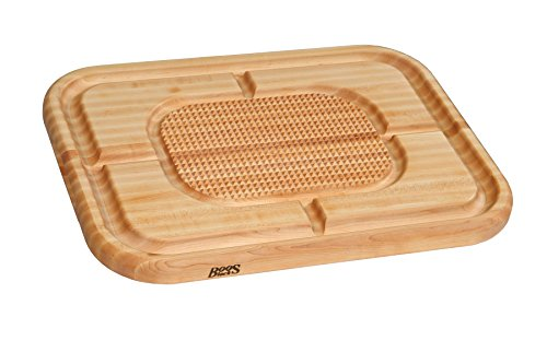 John Boos Block MN2418150-SM Carving Collection Pyramid Design Reversible Maple Cutting Board with Juice Groove, 24 Inches x 18 Inches x 1.5 Inches ()