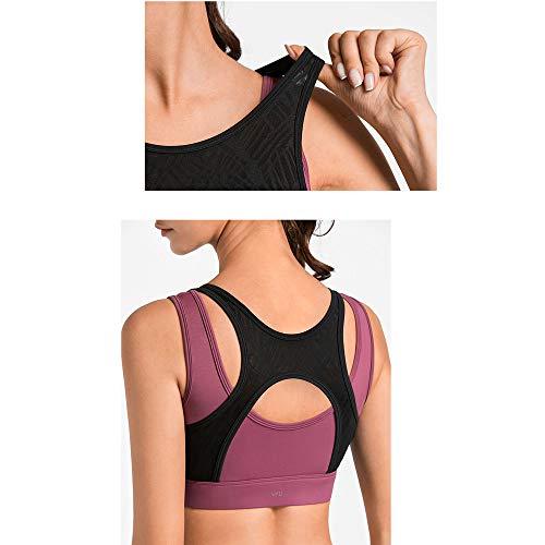 Ad Yoga Alta Donna Intensità Pezzi Da Scelta Anti Colori Allenamento Reggiseno rilassamento Antiurto Intimo Due 2 Sportivo A Falso t7vwz