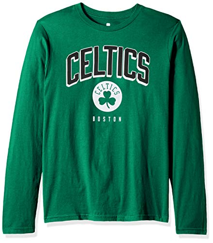(Outerstuff NBA NBA Youth Boys Boston Celtics Dunked Long Sleeve Tee, Kelly Green, Youth Medium(10-12) )