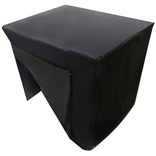 Nikgic Swing Cover Outdoor Garden Waterproof Dustproof Swing Seat Cover Polyester 225 x 155 x 150CM Black