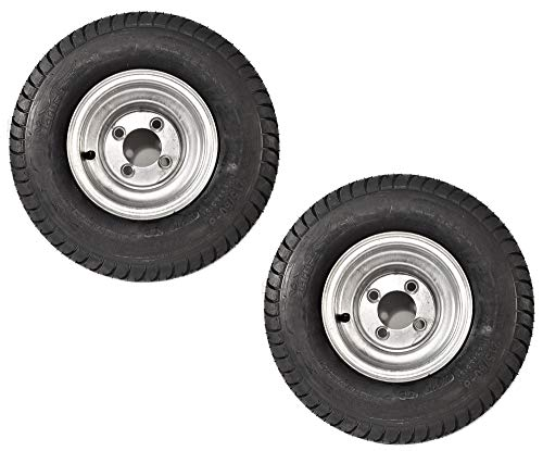 2-Pack Trailer Tire On Rim 18.5-8.5-8 215/60-8 Load C 4 Lug Galvanized Wheel