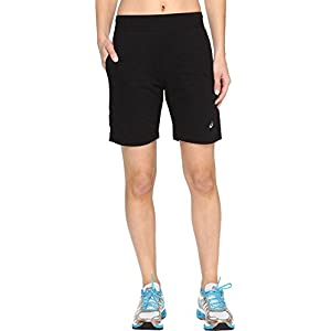 "ASICS Women's Abby 7"" Long Shorts Performance Black Shorts"