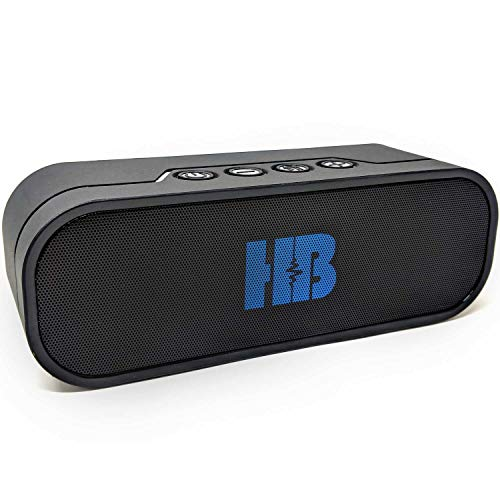 Bluetooth Speaker Power Bank - HB Beast - Powerful 20W Waterproof Bluetooth Portable Shower Speaker with Power Bank. Multiple Connections, Bluetooth, Micro SD Card Slot, USB Slot and Aux ()