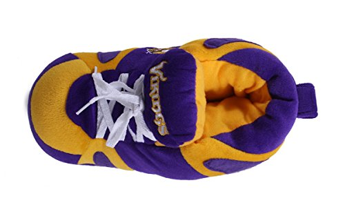 LICENSED Vikings NFL Sneaker Womens Slippers Happy Feet Comfy and Minnesota Mens Feet OFFICIALLY OfI8x7q