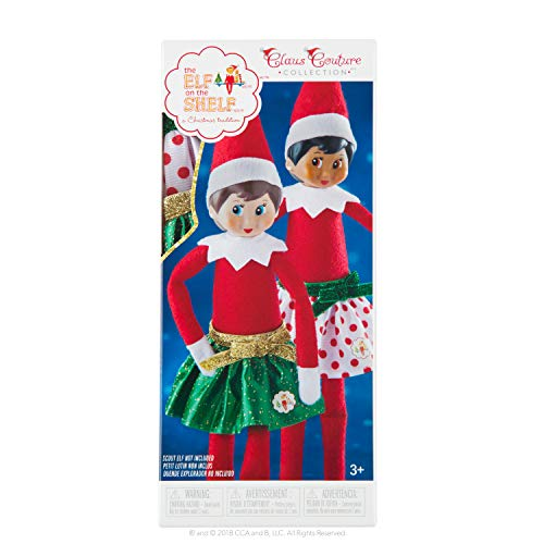 The Elf on the Shelf Party Pair Skirt Set - Includes 2 Skirts - Ages 3 and Up -