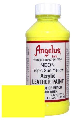 Angelus Acrylic Leather Paint 4oz Tropic Yellow