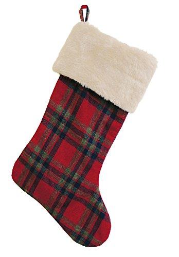Boston International Christmas Stocking, Plaid, ()