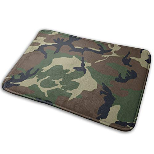 Woodland Camouflage Accents - DIDIDI Camouflage Woodland Texture Throw Area Ground Mat Accent Floor Party Outside Door Set Restroom Kitchen Bathroom Decor Welcome Entryway Rug Sign Celebrate Decorations Ornament