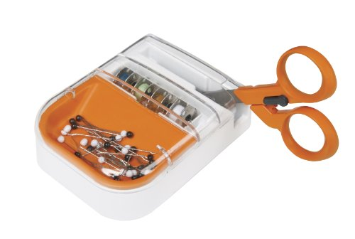 Fiskars 159920-1001 Detail Scissors/Seam Ripper Combo with Multi Purpose Organizer