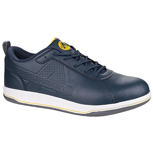 Trainer Safety Friendly up Vegan Amblers Antistatic S1 Bleu Ettrick Lace Marine AS709 f1wqFz