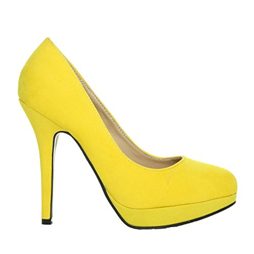 FOLLOW ME FMUK LADIES/HIGH HEEL PLATFORM SHOES IN SIZE- 3/36-8/41 WOMENS COURT SHOE HEELS NEW cQcmcY