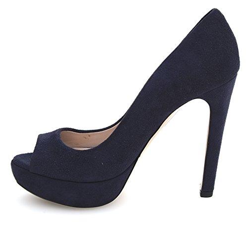 Miu Miu Zapato de Tacón Abierto EN Punta Para Mujer Gamuza Azul Art. 5KP024 36 Blu - Blue