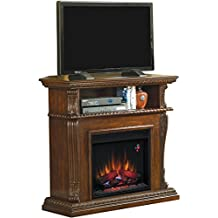 ClassicFlame Corinth Wall or Corner Infrared Electric Fireplace Media Center in Burnished Walnut - 23DE1447-W502