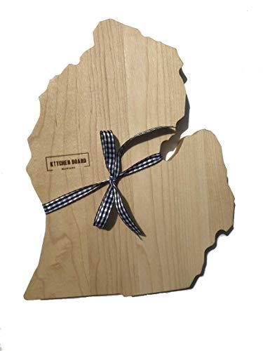 MICHIGAN Mitten Cutting Board & MICHIGAN Gifts | Michigan Home Decor & Souvenir Serving as a Decorative Chopping Block or Cheese Tray for Kitchen