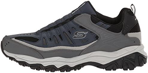 Skechers Men's Afterburn Sport Fit Extra Wonted Wide Loafer Shoes