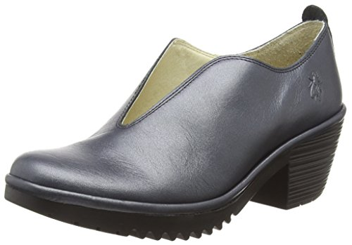 Silver Closed Walk908fly Graphite Toe 004 Heels Fly London Women's wYqfxpt