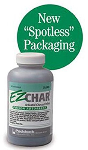 EZ CHAR ACTIVATED CHARCOAL PELLETS 25 gm per Bottle (6 Bottles) by PERRIGO PHARM