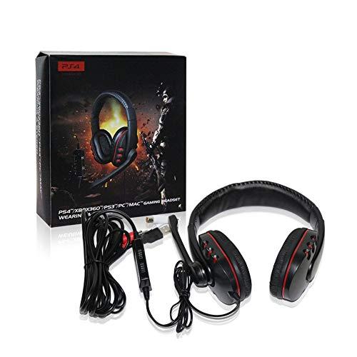 PC//Mac PS3 XBOX360 Mouchao Auriculares con Cable en el o/ído con micr/ófono Depp Bass para PS4