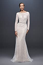 Allover Sequin Art Deco Sheath Wedding Dress Style SWG799