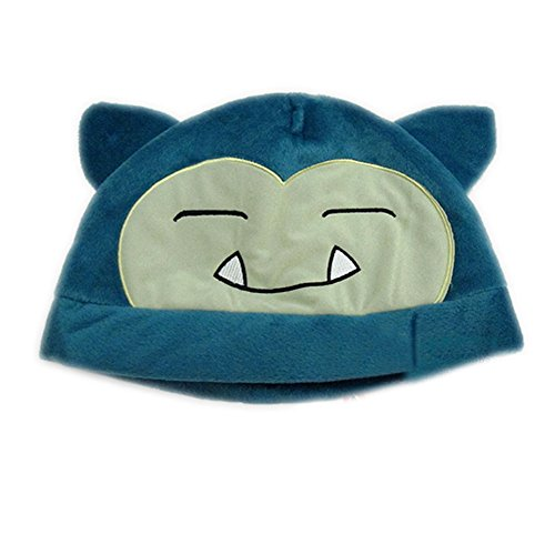 [Snorlax Hat Cute Cap Plush Hat Cosplay Hat Beanie Blue] (Snorlax Costume Dress)