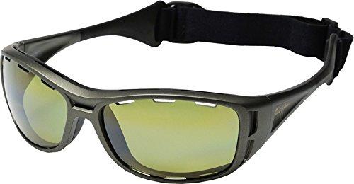 Maui Jim Waterman Sunglasses, Titanium/Maui Ht, One - Ht Maui Jim Lenses