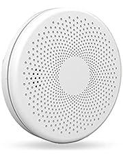 Tuya Smart Wifi Rookmelder Thuis Brand Sound Light Alarm Sensor Alert Combinatie Rookmelder Battery Operated Voice Alert Eenvoudig Te Installeren Fotocel