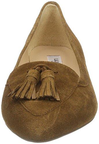 LK BENNETT Women's Dixie Closed Toe Ballet Flats Brown (Bro-tobacco) 3hdstBaz