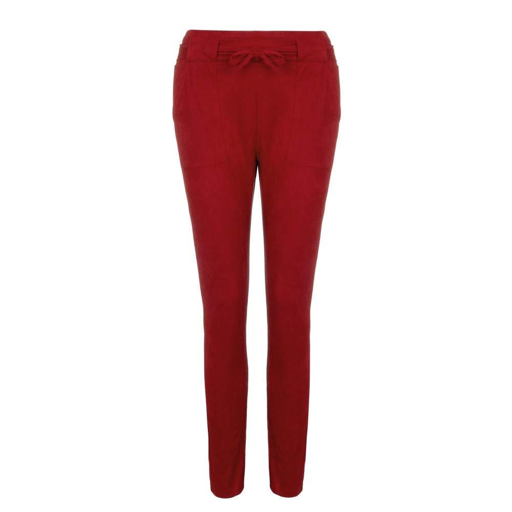 c51ebc6669e2 Coolster Damen-beiläufige Gestreifte Hohe Taillen-Hosen-elastische Taillen-beiläufige  Hosen