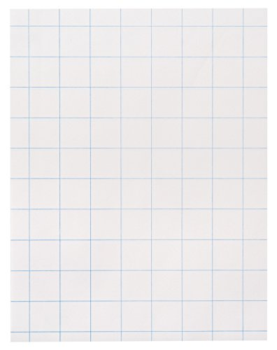 (School Smart Double Sided Graph Paper with in Ruler - 8 1/2 in x 11in - Ream of 500 -)
