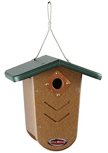 led Moraine Bird House Wren & Chickadee House (Recycled Wren House)
